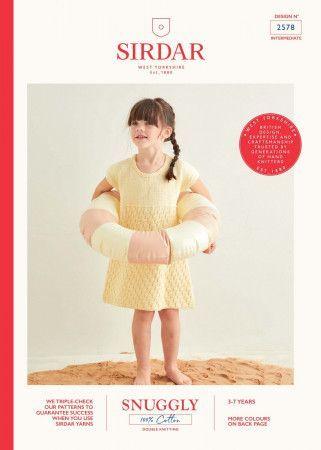 Dress in Sirdar Snuggly 100% Cotton DK (2578)