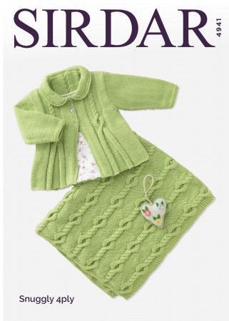 Matinee Coat and Blanket in Sirdar Snuggly 4 Ply (4941)