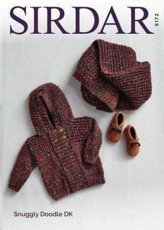 Jacket and Blanket in Sirdar Snuggly Doodle DK (5172)