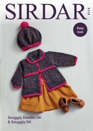 Coat and Beret in Sirdar Snuggly Doodle DK and Snuggly DK (5173)