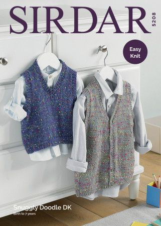 Tank Top and Waistcoat in Snuggly Doodle DK (5208)