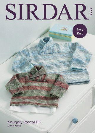 Sweater in Sirdar Snuggly Rascal DK (5226)
