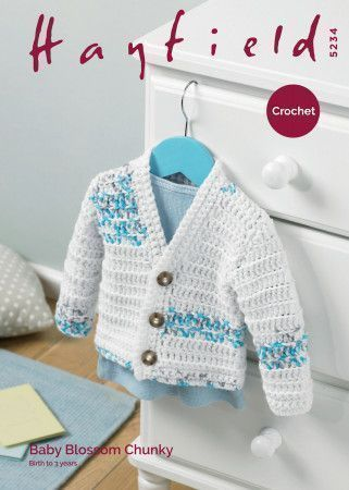 Cardigan in Hayfield Baby Blossom Chunky (5234)