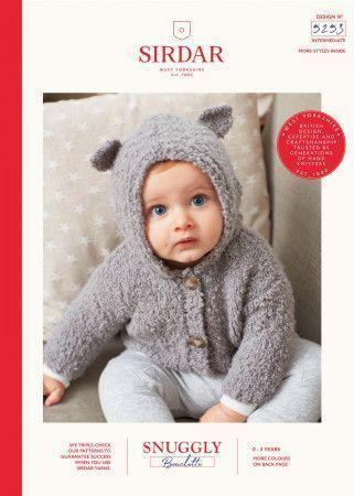 Bear Ear Cardigan in Sirdar Snuggly Bouclette (5253)