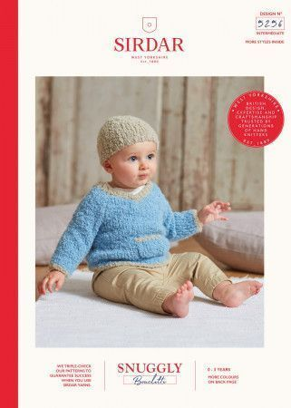 Hat and Sweater in Sirdar Snuggly Bouclette (5256)