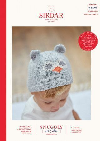 Owl Hats knitted using Sirdar Snuggly 100% Cotton DK (5275)