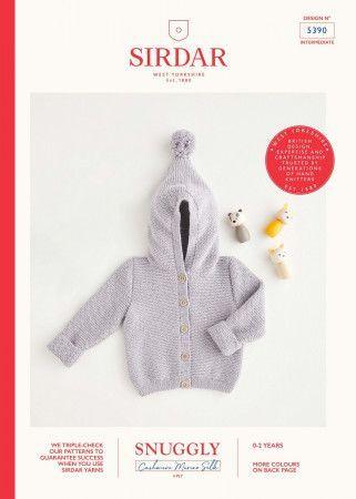 Jacket in Sirdar Snuggly Cashmere Merino Silk 4 Ply (5390)