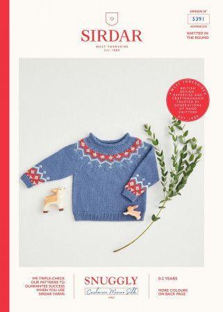 Sweater in Sirdar Snuggly Cashmere Merino Silk 4 Ply 5391)