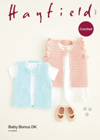 Waistcoats in Hayfield Baby Bonus DK (5417)