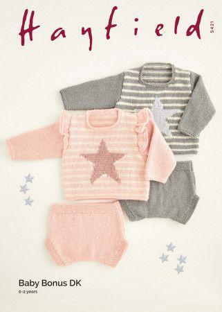 Sweaters and Pants in Hayfield Baby Bonus DK (5421)