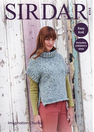 Cowl Neck Top in Sirdar Imagination Chunky (8153)