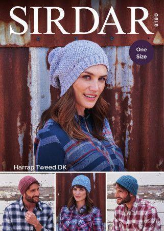 Adult's Hats in Sirdar Harrap Tweed DK (8180)