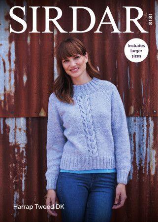 Lady's Sweater in Sirdar Harrap Tweed DK (8181)