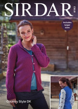 Cardigan and Waistcoat in Sirdar Country Style DK (8182)