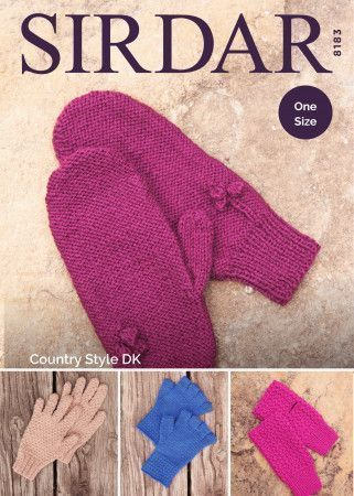 Gloves in Sirdar Country Style DK (8183)
