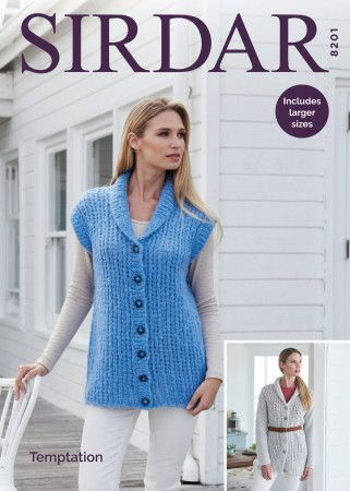 Jacket and Waistcoat in Sirdar Temptation (8201)