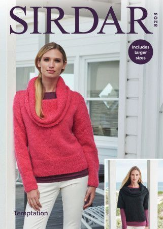Sweaters in Sirdar Temptation (8203)