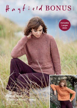 Sweater in Hayfield Bonus Aran Tweed and Hayfield Bonus Aran (8227)