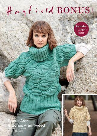 Sweater in Hayfield Bonus Aran Tweed and Hayfield Bonus Aran (8228)