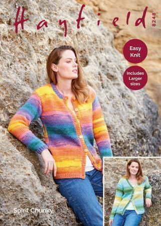 Cardigans in Hayfield Spirit Chunky (8248)