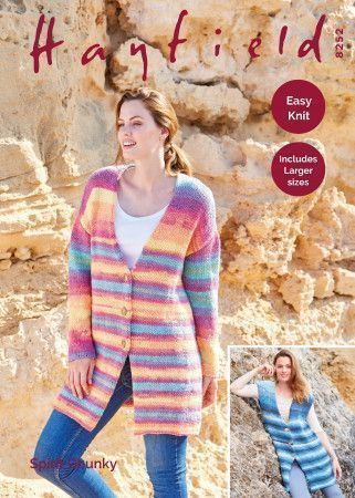 Waistcoat and Jacket in Hayfield Spirit Chunky (8252)