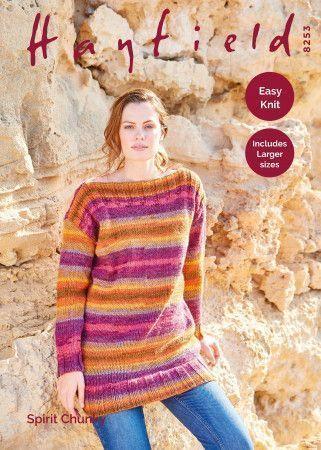 Tunic Sweater in Hayfield Spirit Chunky (8253)