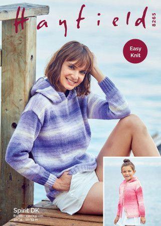 Sweater and Jacket in Hayfield Spirit DK (8265)