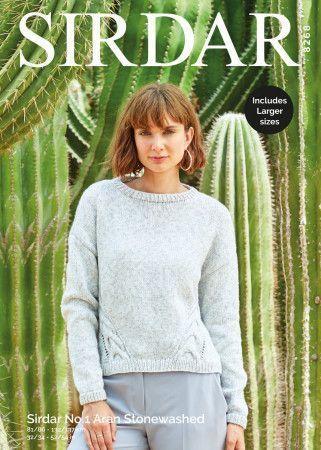 Sweater in Sirdar No.1 Aran Stonewashed (8268)