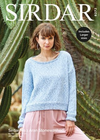 Sweater in Sirdar No.1 Aran Stonewashed (8272)
