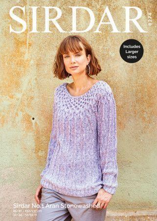 Sweater in Sirdar No.1 Aran Stonewashed (8274)