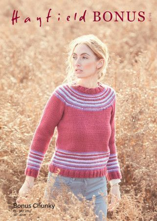 Sweater in Hayfield Bonus Chunky (8296)