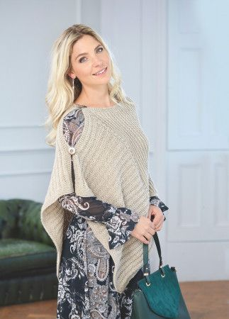 Simple Knitted Cape