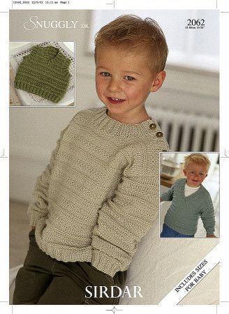 Sweaters and Slipover in Sirdar Snuggly DK (2062)