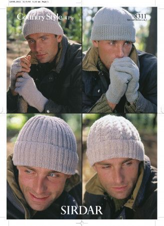 Hats and Gloves in Sirdar Country Style 4 Ply (8311)