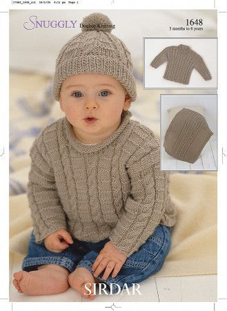 Sweaters, Blanket and Hat in Sirdar Snuggly DK (1648)