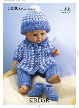 Doll's Outfit in Sirdar Bonus DK (3124)