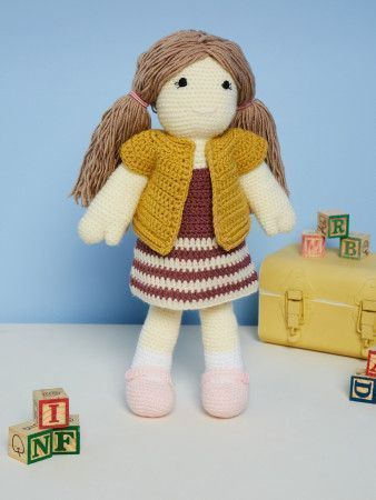 Crocheted Doll in Stylecraft DK (9667)