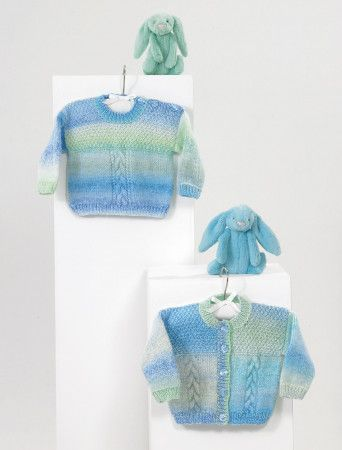 Sweater and Cardigan in James C Brett Baby Marble DK (JB567)