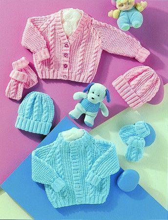 Cardigans, Hat and Mittens in Stylecraft Wondersoft DK (4771)