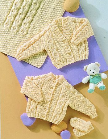 Cardigans, Blanket and Mittens in Stylecraft Baby Aran (4772)