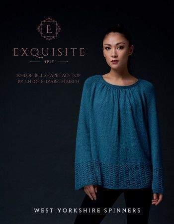 Khloe Top in West Yorkshire Spinners Exquisite 4 Ply (98010)