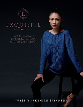 Gabrielle Top in West Yorkshire Spinners Exquisite 4 Ply (98012)