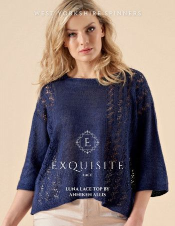 Luna Lace Top in West Yorkshire Spinners Exquisite Lace Pattern