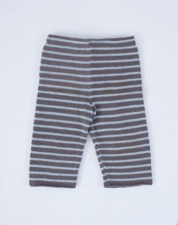 Knitted kids pants with stripes