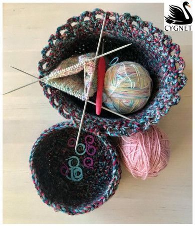 Baskets in Cygnet Helter Skelter Chunky (CY1221)