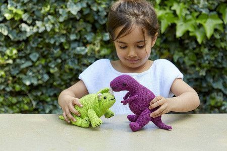 Dinosaur Toy Knitting Pattern