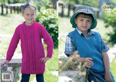 Dress and Slipover in King Cole Big Value Chunky (3257)