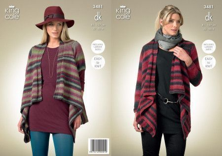 Cardigans in King Cole Riot DK (3481)