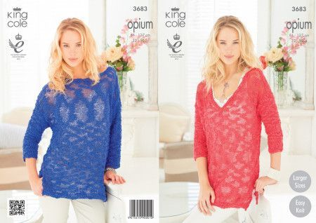 Sweaters in King Cole Opium (3683)