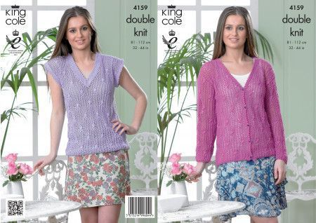Cardigan and Top in King Cole Cottonsoft DK (4159)